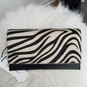Rebecca Minkoff Zebra Calf Hair Wallet Clutch, NWT